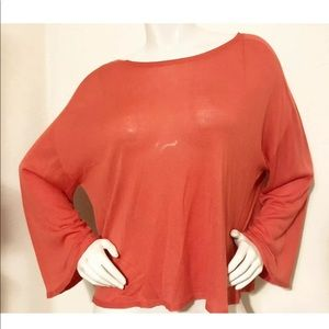 EILEEN FISHER Seamless Semi-sheer Crop Sweater XL